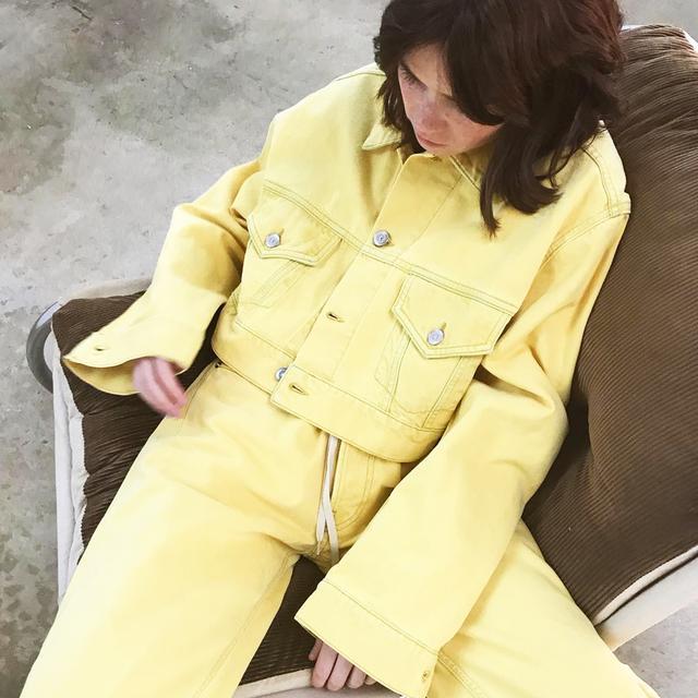 coloured denim jacket trend