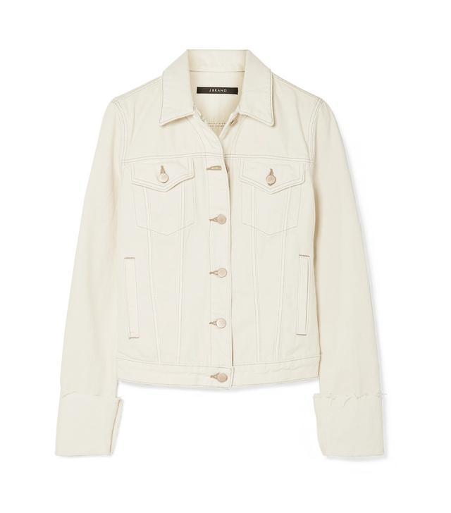 Slim Frayed Denim Jacket
