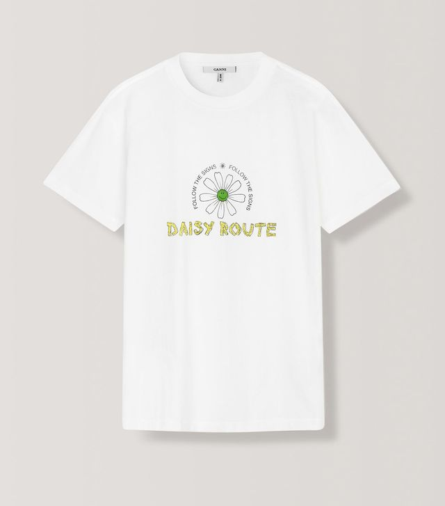 Ganni Harway T-Shirt in Daisy Route