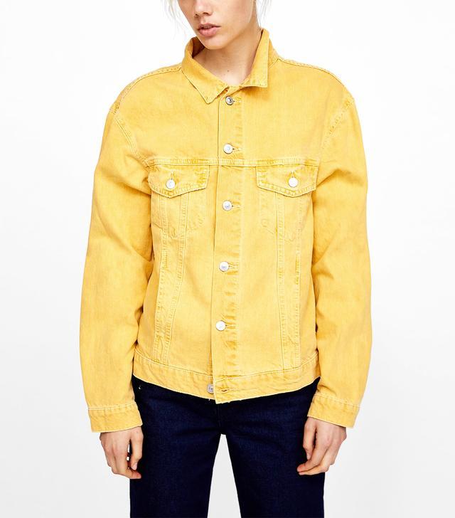 Zara Coloured Denim Jacket