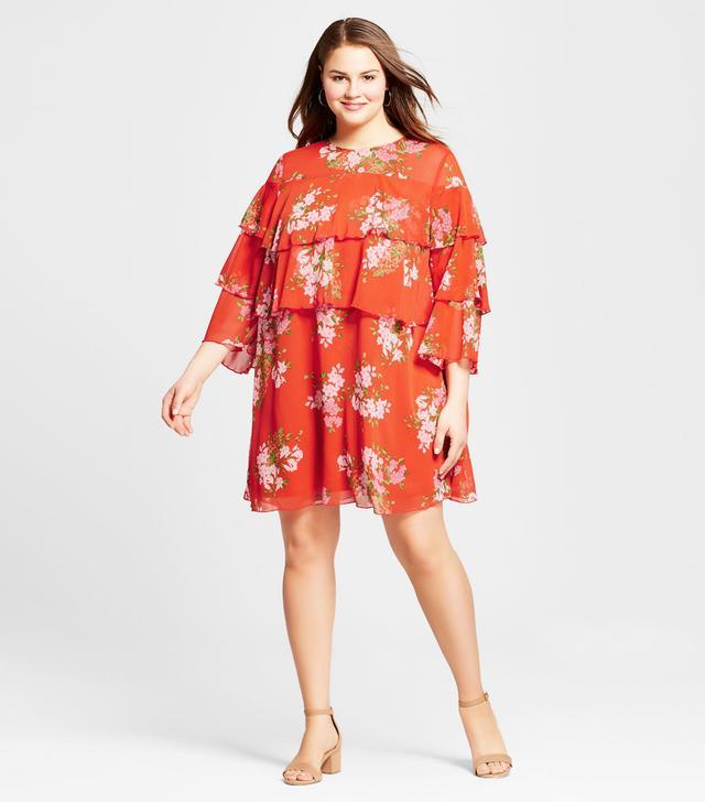 Plus Size Layered Ruffle Mini Dress