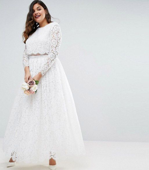 ASOS EDITION Wedding Maxi Dress in Soft Jacquard with Flutter Sleeve