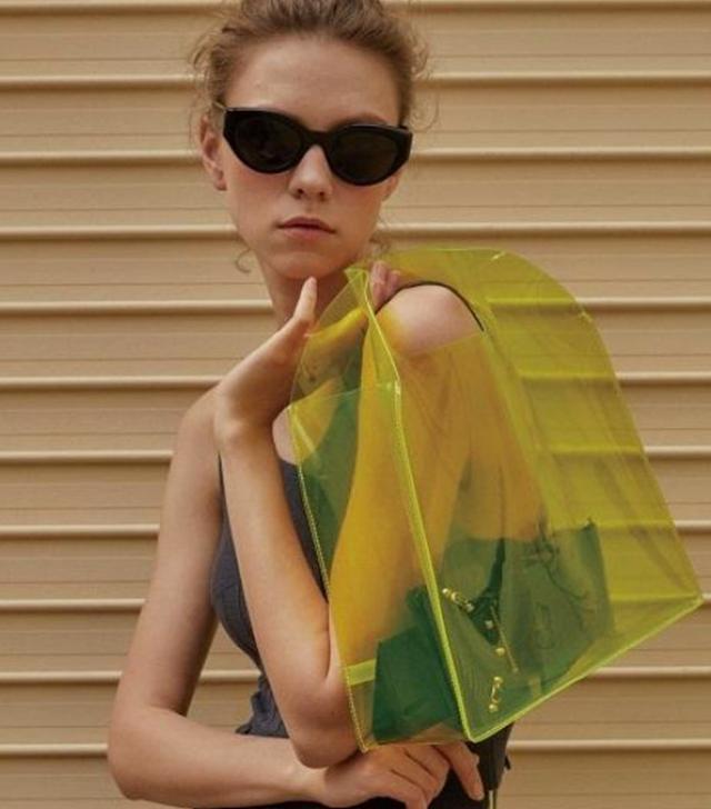 En Or Natural Tote Bag in Yellow