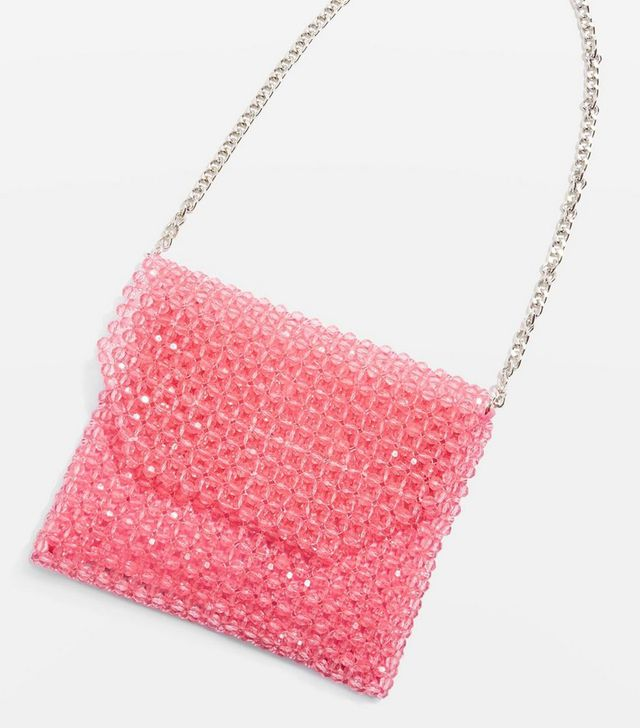 Topshop Beaded Shoulder Bag