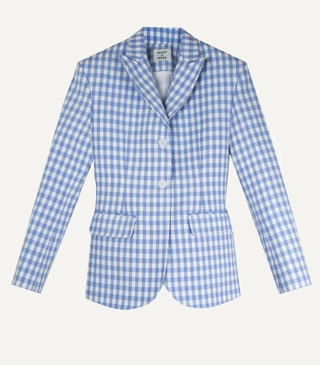The Frankie Shop Gingham Blazer