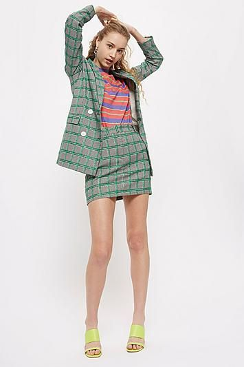 Checked Pelmet Skirt