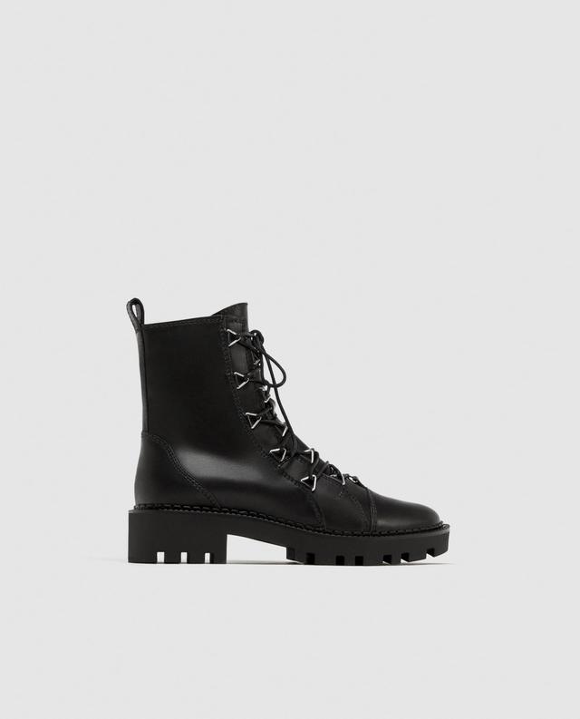 Zara Leather Biker Boot