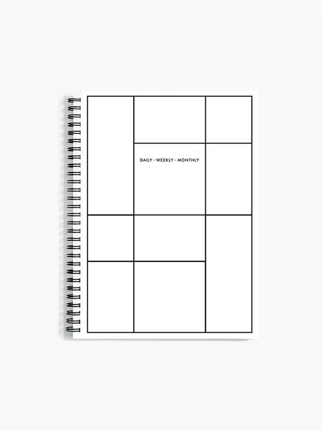 Poketo Daily Weekly Monthly Planner in Linework