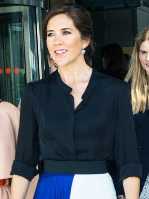 Princess Mary of Denmark's Pretty Skirt Is Made of Recycled Plastic Bottles