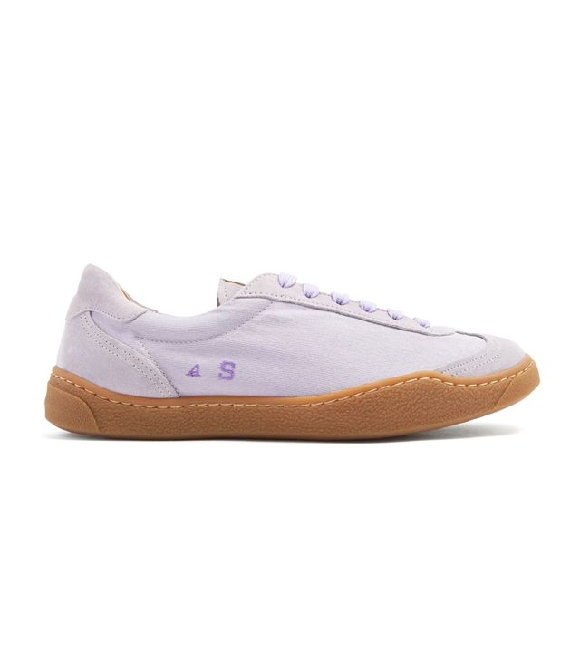 Lhara low-top canvas trainers