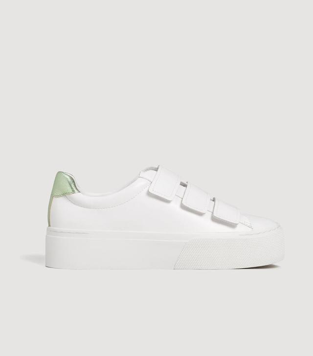 Mango Platform Velcro Fastening Sneakers