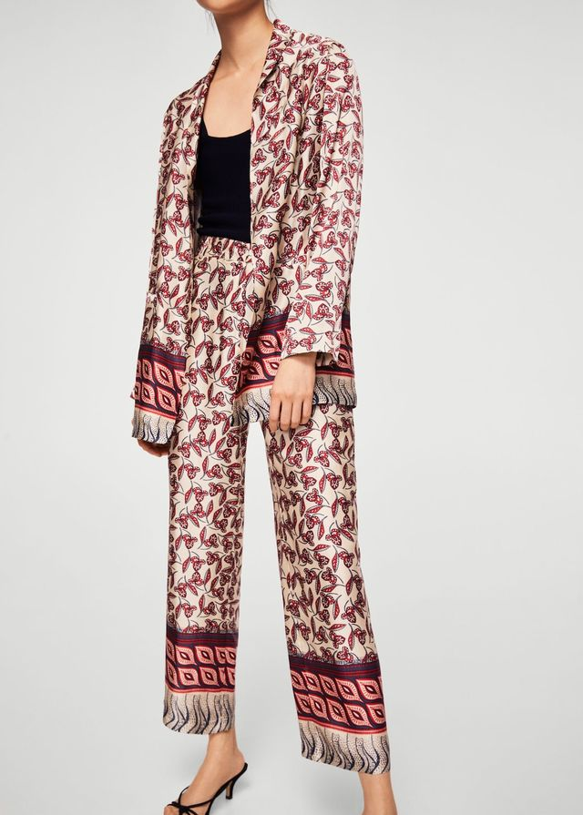 Flowy printed trousers