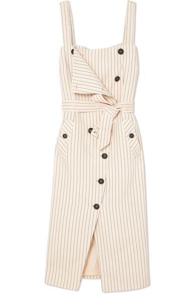 Audrey Button-detailed Ottoman Midi Dress