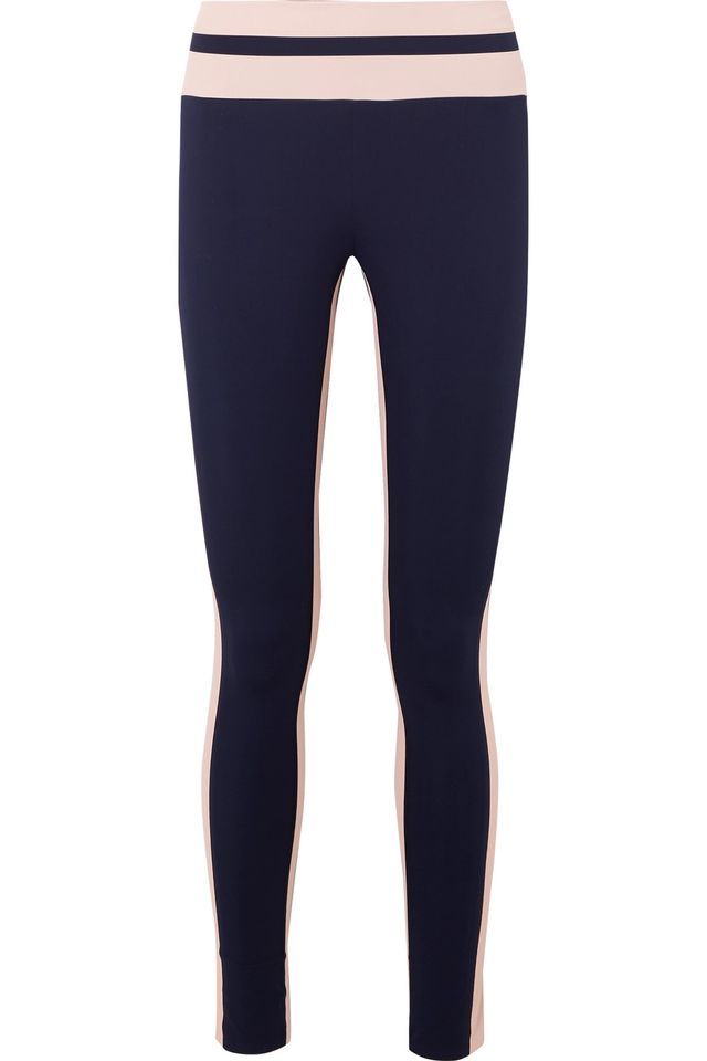 Flo Tuxedo Striped Stretch-Knit Leggings
