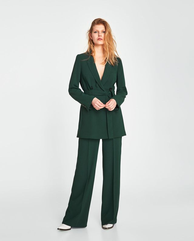 Zara Long Belted Jacket