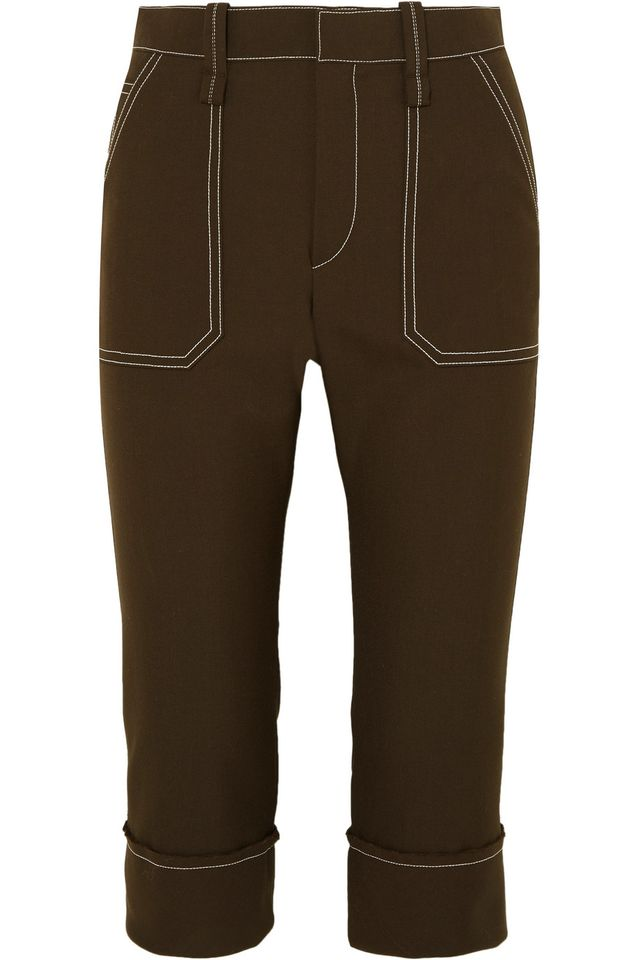 Chloé Cropped Straight-Leg Crepe Pants
