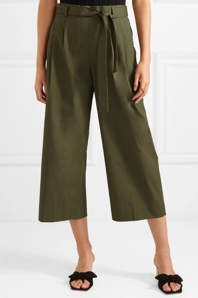 J. Crew Stretch Cotton Poplin Pants
