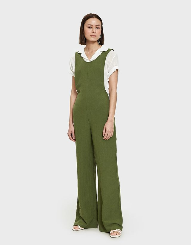 Farrow Senn Jumpsuit in Moss