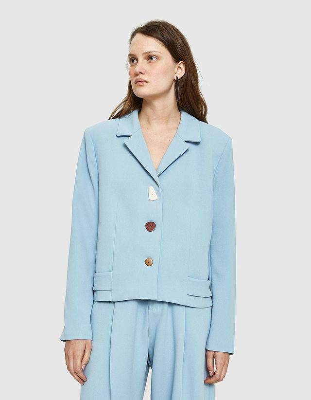 NEED Sandra Blazer in Dusty Blue
