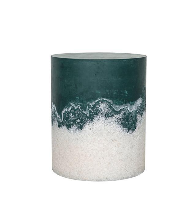 Fernando Mastrangelo Hunter Green Cement and Rock Salt Drum