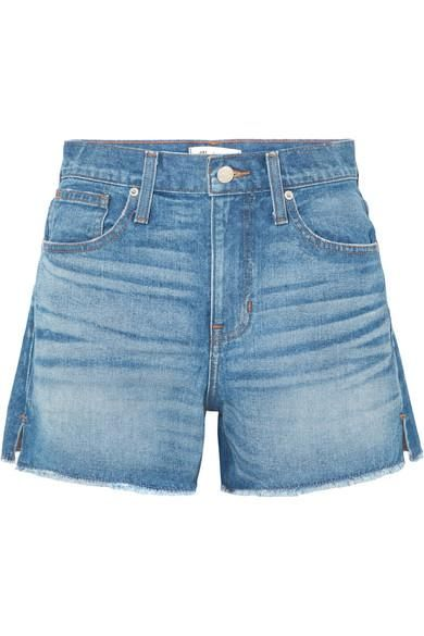 The Vintage Perfect Frayed Denim Shorts