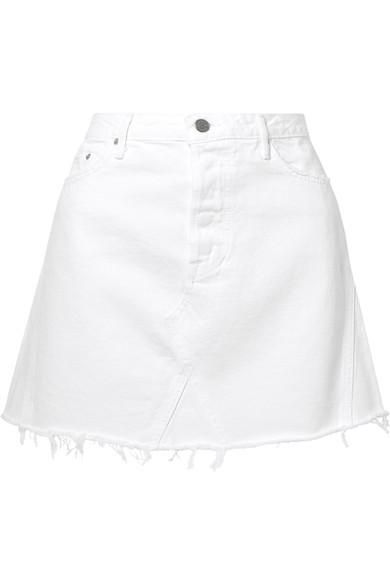 Eva Frayed Denim Mini Skirt
