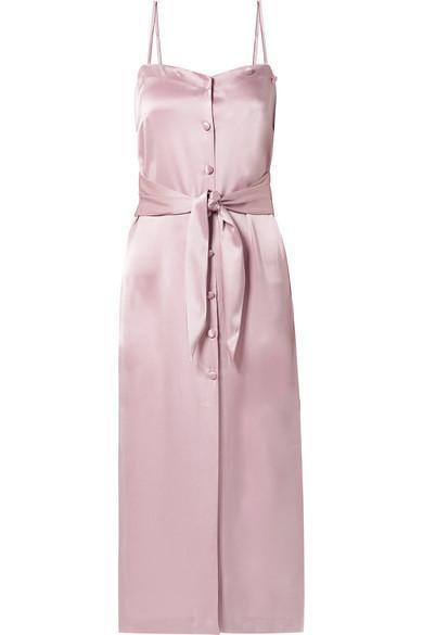 Soraya Satin Midi Dress