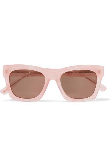 Alice Square-Frame Glittered Acetate Sunglasses