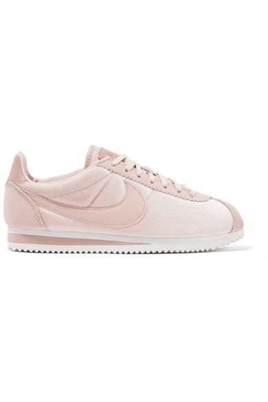 Classic Cortez Suede and Leather-Trimmed Velvet Sneakers
