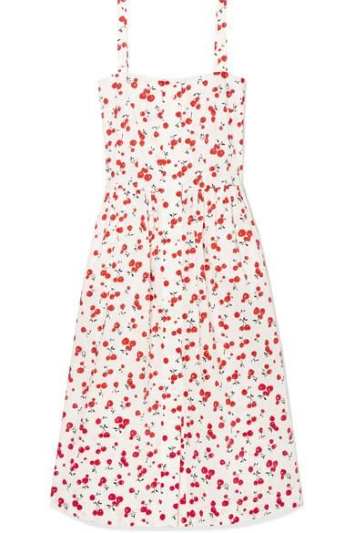 Laura Printed Cotton Midi Dress
