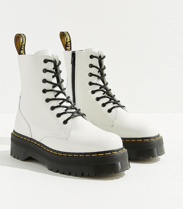 Dr. Martens Jadon 8 Eye Platform White Boot