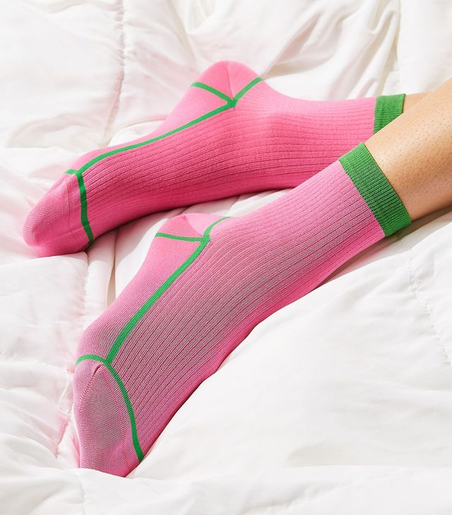 Hysteria By Happy Socks Lily Ribbed Lowrider Sock