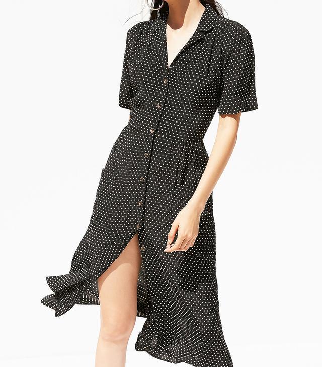 UO Button-Down Midi Shirt Dress