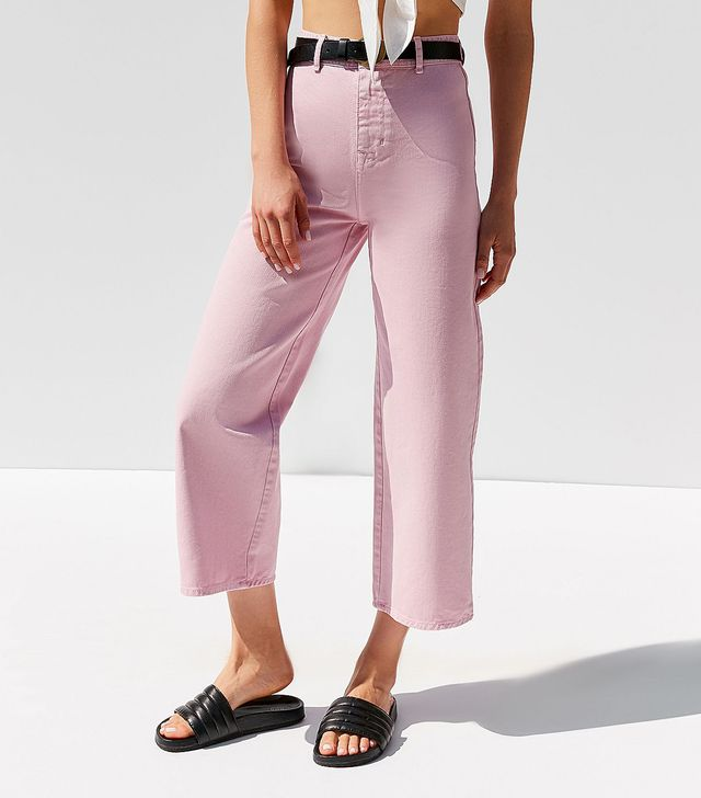 High + Wide Cropped Jean