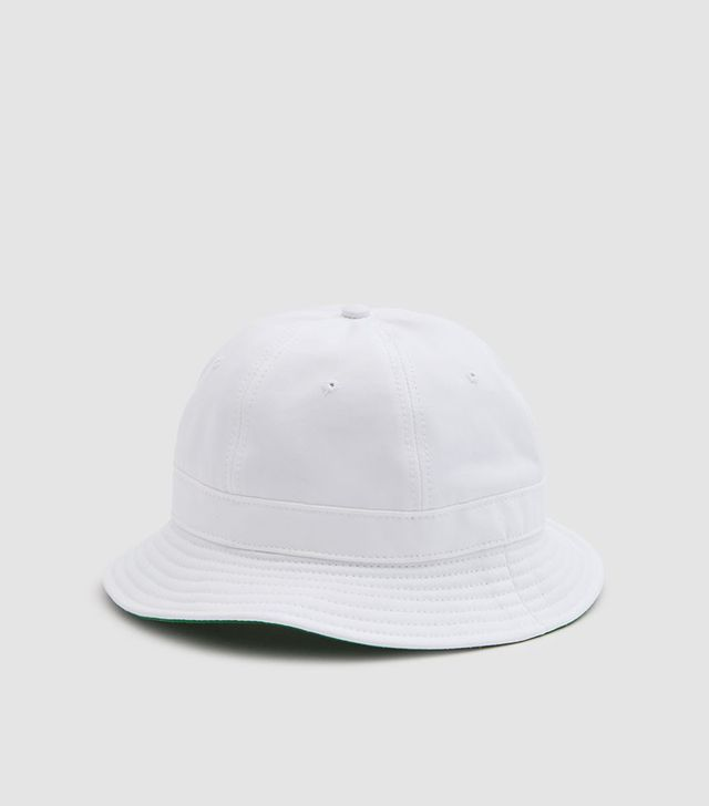Tennis Hat in White/Kelly Green
