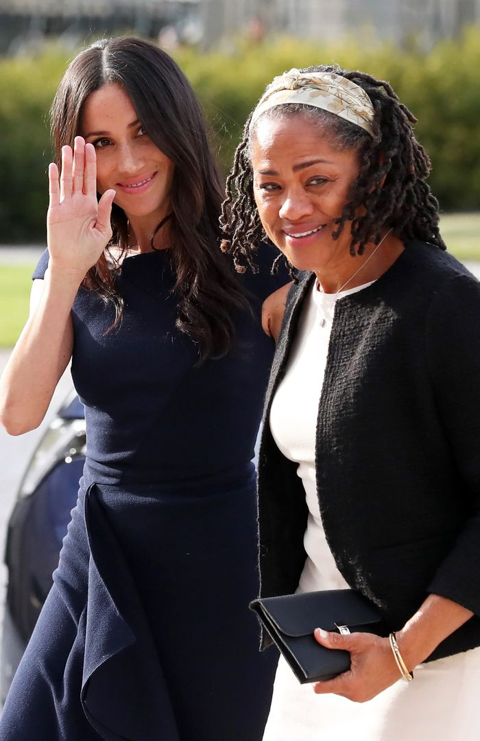 Meghan Markle Navy Roland Mouret Dress: Night Before Royal Wedding