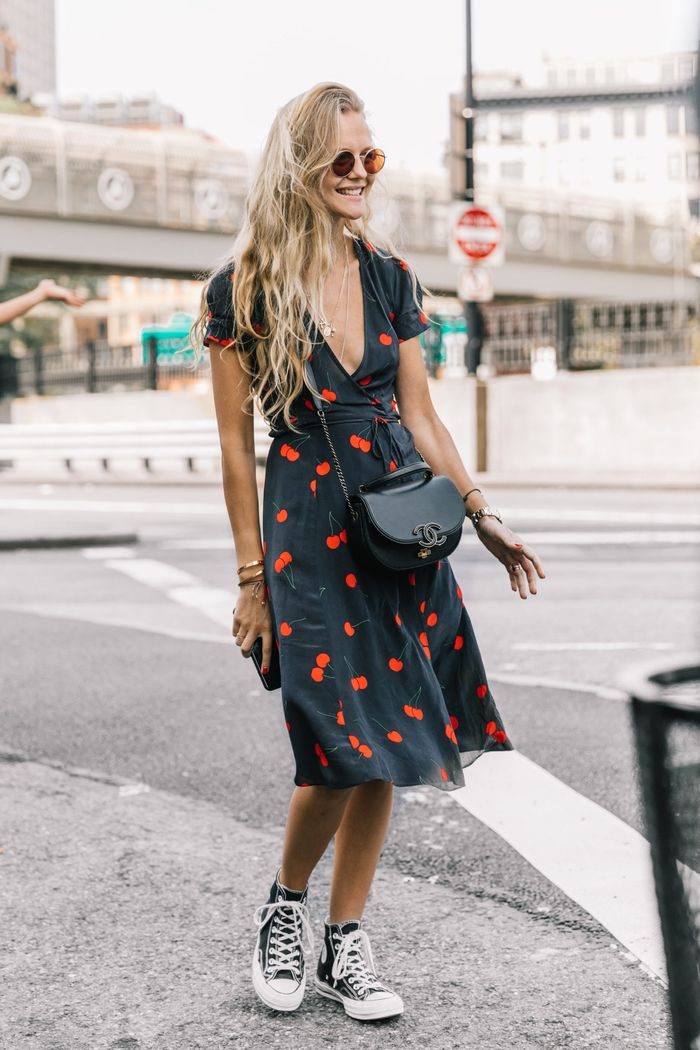 What to wear with dresses that aren't heels