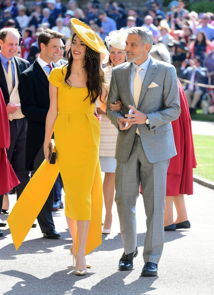 Amal clooney at royal wedding: Yellow stella McCartney dress