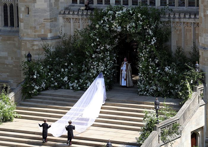 Meghan Markle Wearing a Givenchy Haute Couture Wedding Dress