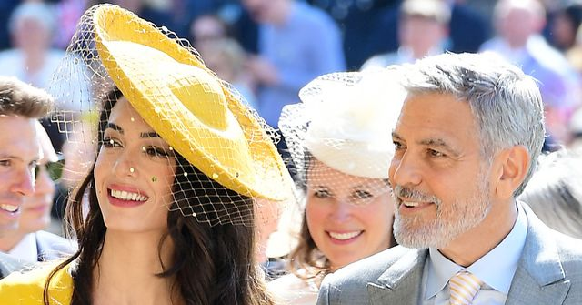 Amal clooney wore bright yellow to meghan markle 39 s wedding for Royal wedding dress code