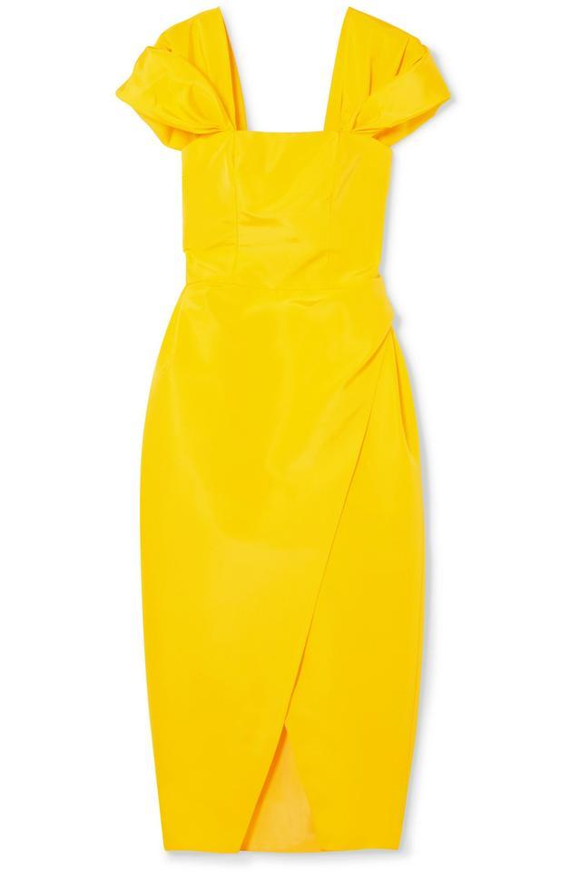 Silk-faille Midi Dress