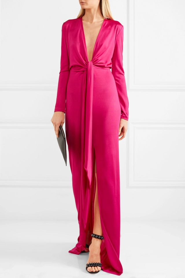 Knotted Stretch-jersey Gown