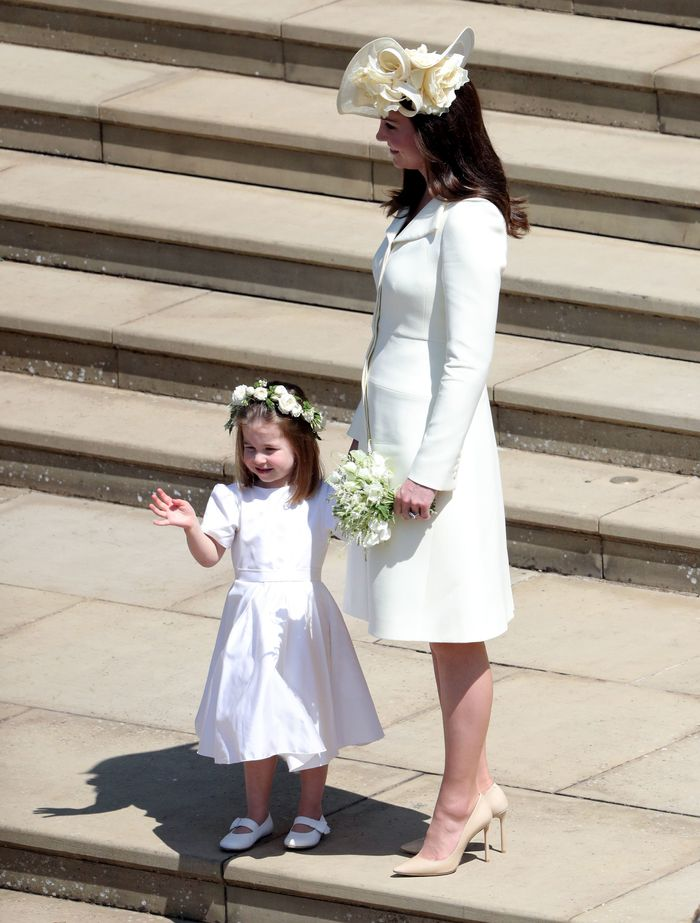 kate middleton meghan markle prince harry wedding: with priness charlotte