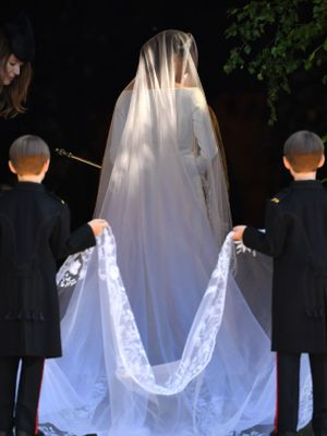 Watch Meghan Markle Break Royal Tradition and Walk Herself Down the Aisle