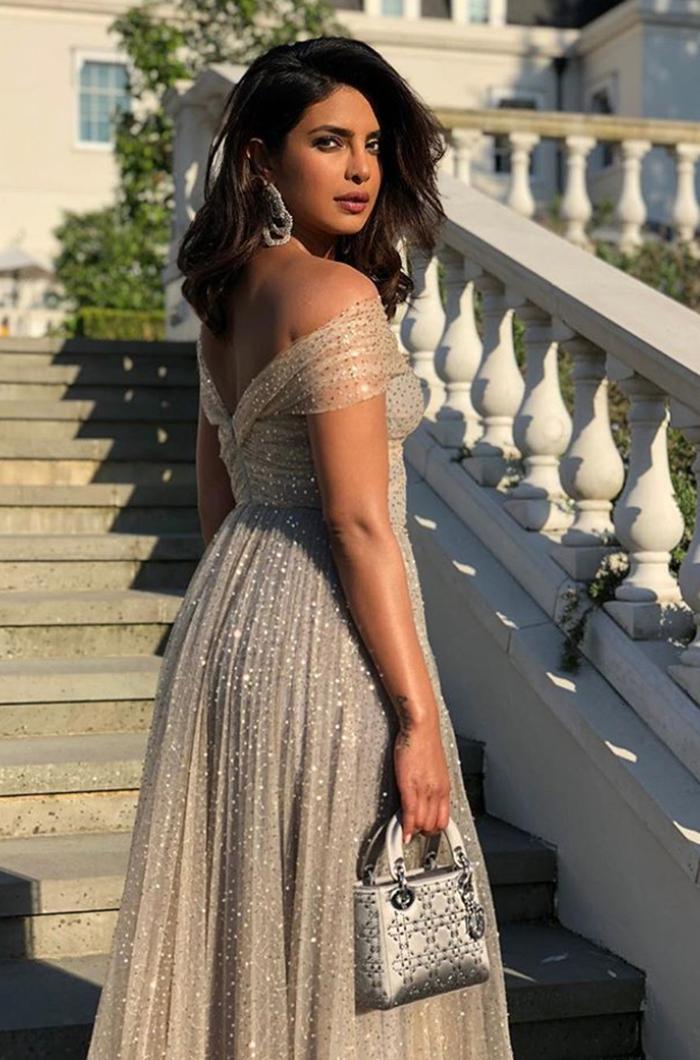 meghan harry royal wedding guests evening reception outfits: Priyanka Chopra