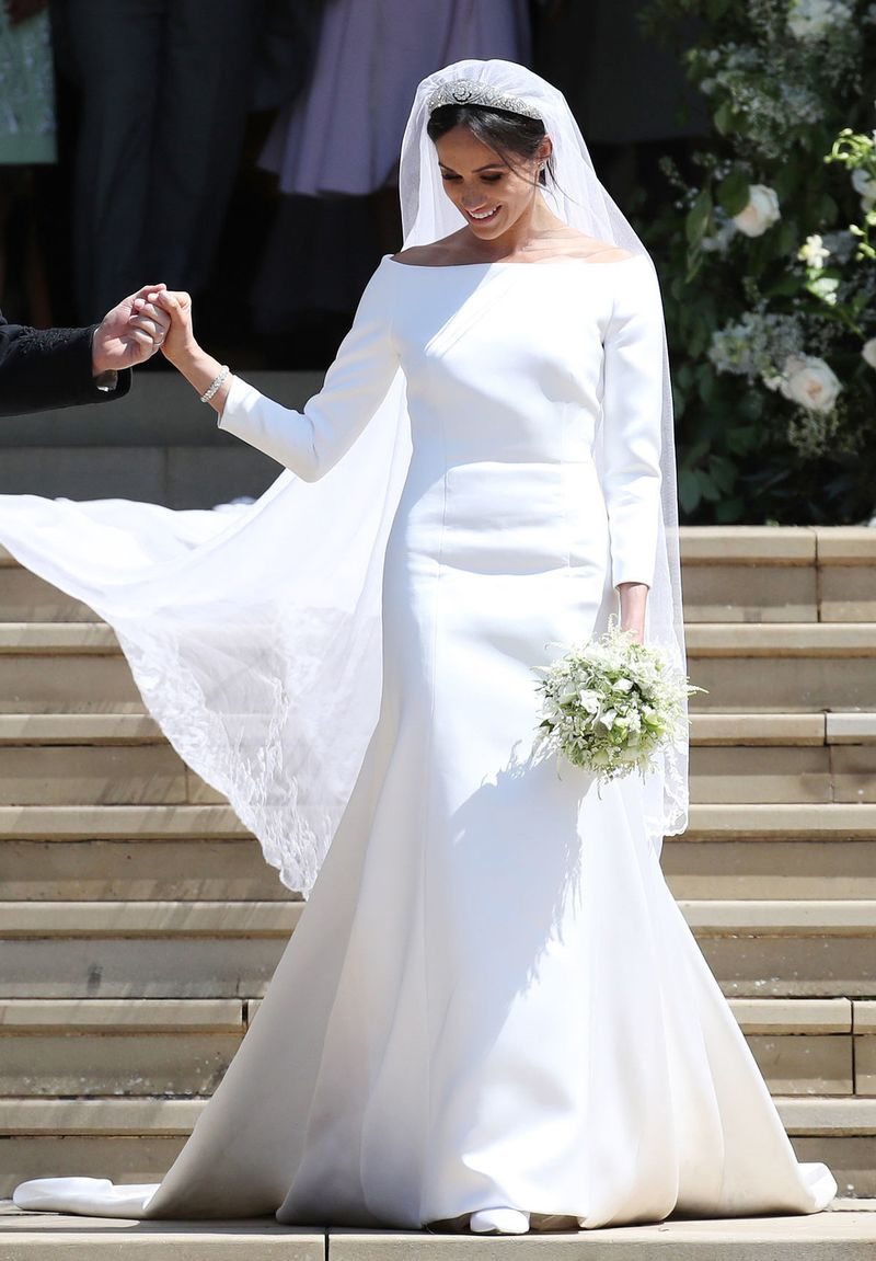 Meghan\'s Second Wedding Dress (and Car) Is About As Hollywood As It ...