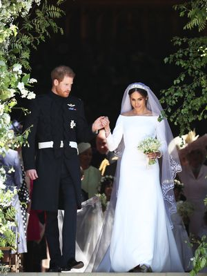 Meghan's Second Wedding Dress (and Car) Is About As Hollywood As It Gets