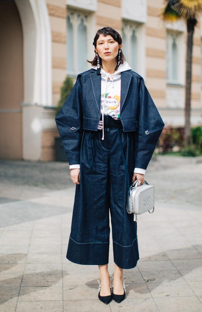 Tbilisi Georgia Fashion Week 2018 Street Style - Double Denim