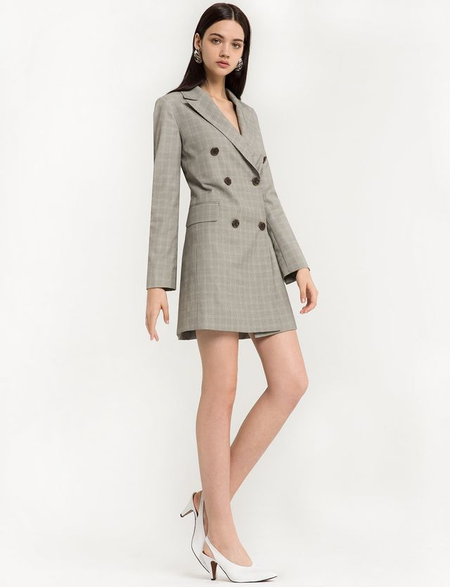 Pixie Market Aerin Double Breasted Blazer Dress