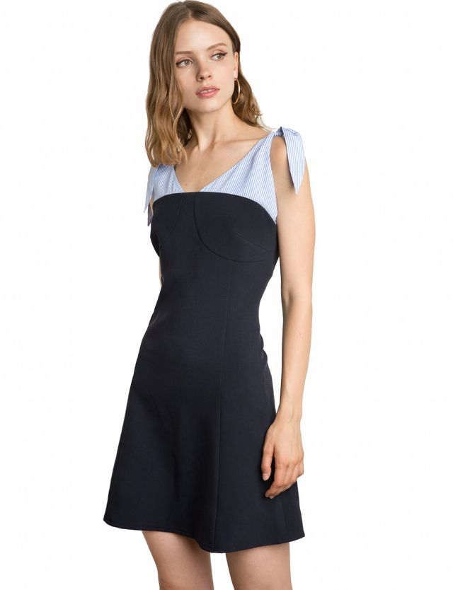 Pixie Market Numero Shoulder Scarf Tie Dress